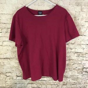 Eileen Fisher Women's Burgundy 1X Shirt